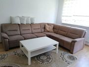 Braunes Microfaser Sofa Couch in