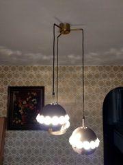 Deckenlampe mit 3 Metall-Lampenschirmen und