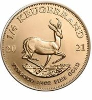 Südafrika - 1 4 Rand 2021 - Krügerrand