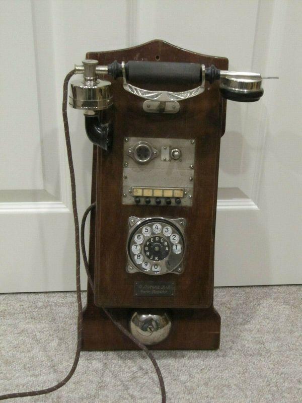 Altes antikes Wandtelefon C Lorenz