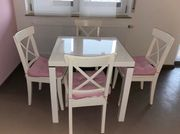 Tisch weiß Hochglanz 4 Ikea