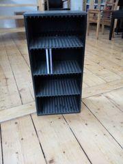 CD Regal schwarz Holzoptik