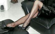 Sexy Schwarze Nylon Pantyhose Strumpfhose