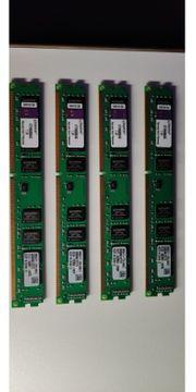 4 Stück Kingston 4GB DDR3