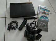 PS3 Konsole mit Controller Spielen