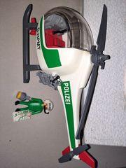 Hubschrauber Polizei grün