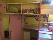 Hochbett Mädchen Bett Schreibtisch Schrank