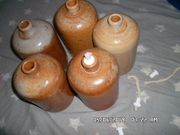 Steingutflaschen Öllampe Tonflaschen