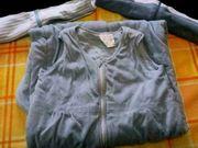 Baby Schlafsack 110 blau Frottee