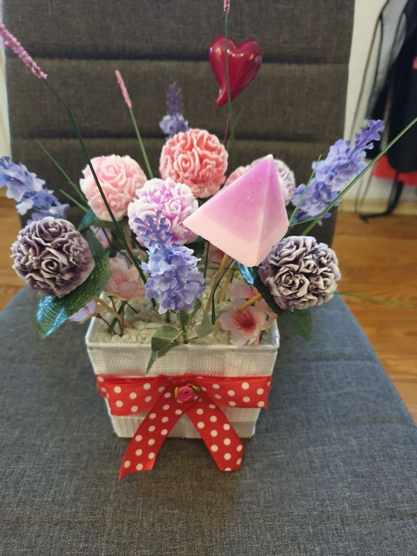 Blumen topf aus seife