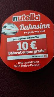 Bahn Ticket von Nutella