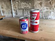 2 alte Dosen Coca Cola