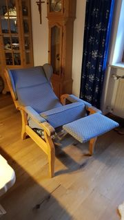 Alter Sessel Stuhl Liegefunktion Bauern