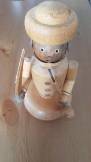 Deko Pfeife rauchende Holzfigur