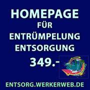 Homepage Webseite für Entrümpelung Transport