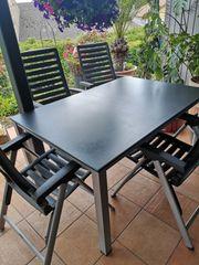 Kettler Gartentisch mit 4 klappstühlen