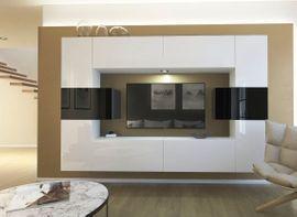 Möbel Wohnzimmer Wohnwand Anbauwand Schrankwand Wohnschrank Monaco NX4 1B AN4-17WB-HG23 1B