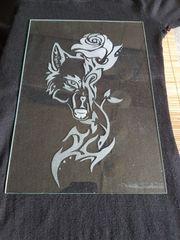 Handgefertigte Glasgravur