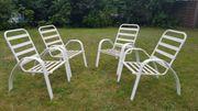 4 hochwertige stabile Alu Gartenstühle