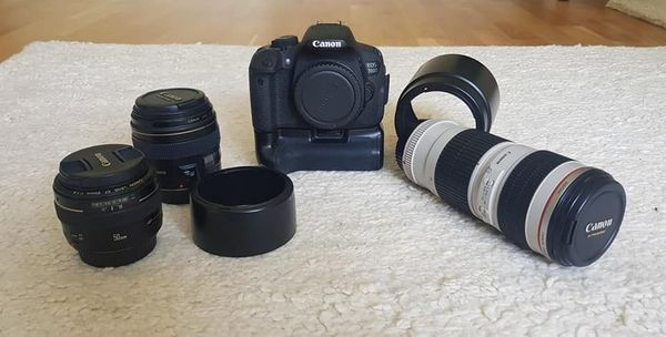 Canon 700d Set (50, 1. 4; 85, 1. 8; 70-200, 4) Tamron 15-30, 2. 8