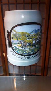Pyraser Jahreskrug 1987 Bierkrug Bierseidel