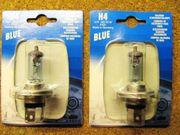 2x H4 Blue Halogen Scheinwerferlampe12