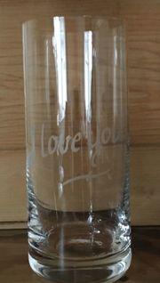 Valentinstag - Glas mit Gravour I