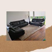 Superbequeme Echtleder Polstergarnitur Sofa Couch