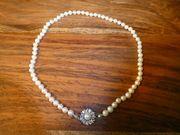 Antike Perlenkette echte Salzwasser-Perlen aus