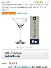 6 Cocktail Gläser