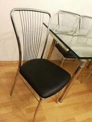 Stuhl Stühle verchromt