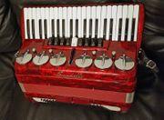 Scandalli Akkordeon Pianoakkordeon Rot Perlmut