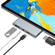 USB C Hub iPad Aluminium