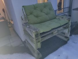 Gartenmöbel - Palettensofa inkl Sitzkissen