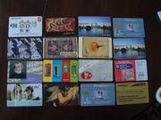 16 Telefonkarten Konvolut 1 für