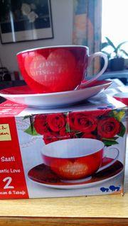 2 Kaffeetassen Romantic Love