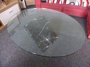 Travertin- Glastisch