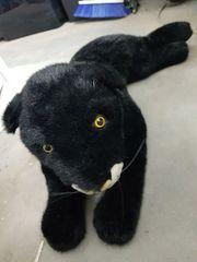 Stofftier Kuscheltier Schwarzer Panther LxHxB