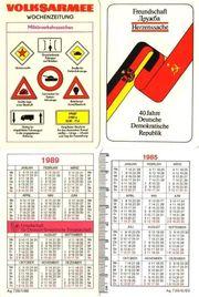 DDR 2 Taschenkalender NVA und