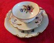 Fürstenberg Sammelgedeck Teetasse 3-teilig Blumen