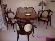 Sitzgarnitur antik mit Biedermeier Tisch