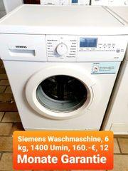 Siemens Waschmaschine sechs kg 1400