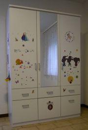 Kleiderschrank 3 Türen 6 Schubladen