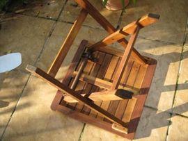 Bild 4 - Beistelltisch Klapptisch Holz Tisch Gartentisch - Berlin Niederschönhausen