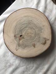 Baumscheibe Holzscheibe Pappelholz Holz Deko