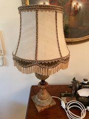 Tischlampe antik Onyx schwer top