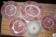 Geschirr Woodland Burslam weiß-rot von