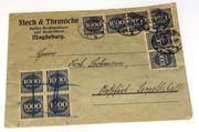 Brief DR 1923 mit 20