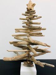 Weihnachtsdekoration - Weihnachtsbaum Tannenbaum aus Treibholz