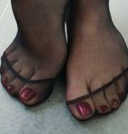 Fuß Fetisch Nylon Strümpfe